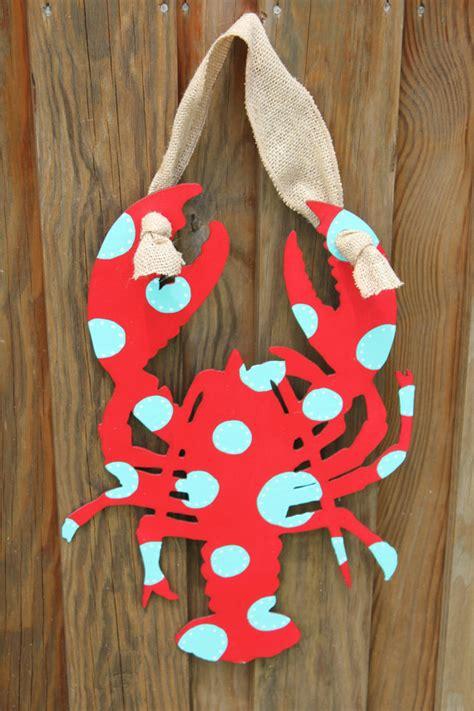 shabby chic door hangers 20 shabby chic lobster door hanger custom order