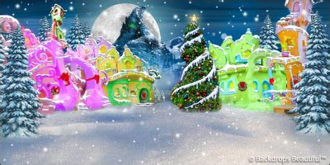 Grinch Backdrop by Backdrops Beautiful Painted Scenic Backdrop Rentals