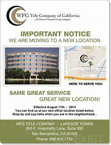 IMPORTANT NOTICE – WE ARE MOVING TO A NEW LOCATION ...