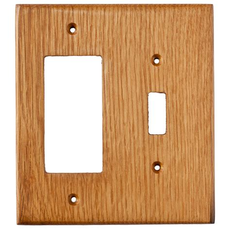 oak outlet covers oak reclaimed wood wall plates 2 gang combo light switch gfci outlet cover