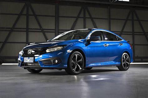 honda civic 2016 2016 honda civic sedan priced from au 22 390 debuts 1 5