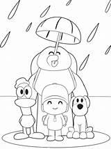 Pocoyo Colorear Para Dibujos Coloring Pages Paginas sketch template