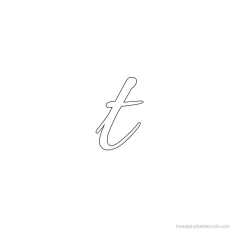 small letter stencils letter t in cursive popflyboys 17301