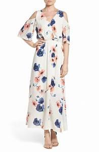 Cold Shoulder Maxi Dresses On Trend For Spring 2017!