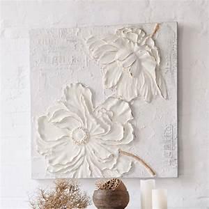 Tableau Peinture Sur Toile : tableau avec fleurs en 3d peinture acrylique sur toile cuisine maison peinture ~ Teatrodelosmanantiales.com Idées de Décoration