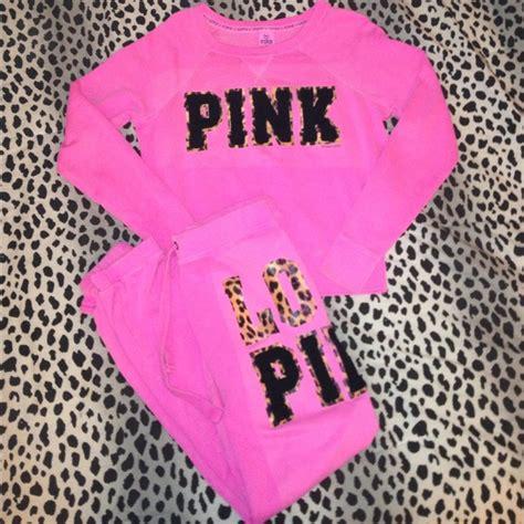 Victoriau0026#39;s Secret Sweaters | Sold Vs Pink Cheetah Sweat Outfit | Poshmark