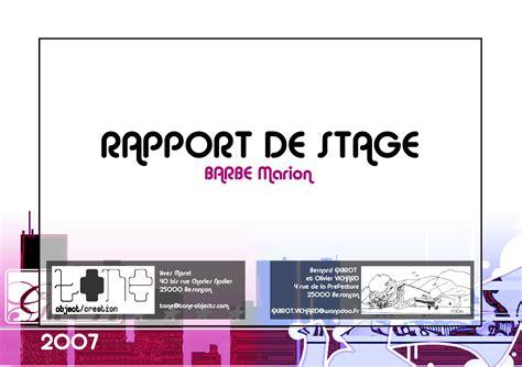 stage chambre de commerce rapport de stage en pdf