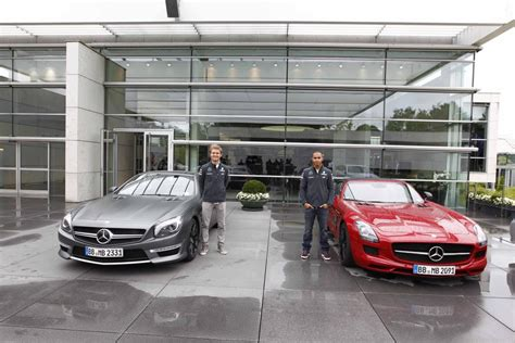 mercedes factory video mercedes amg silver arrow drivers nico rosberg and