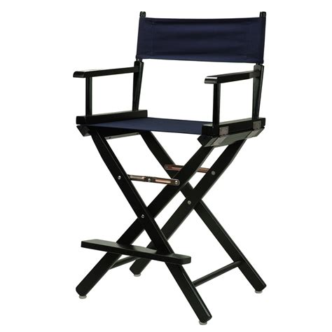 directors chair 24 quot director s chair black frame navy blue canvas