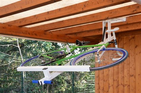 Ceiling Bike Rack Horizontal by Flat Bike Lift Or How To Park Your Bicycle On The Ceiling