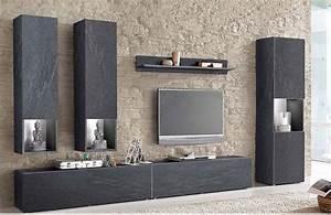 Buffet Effet Beton : ensemble meuble tv effet b ton cir design monza ensemble meubles tv pinterest meuble tv ~ Teatrodelosmanantiales.com Idées de Décoration