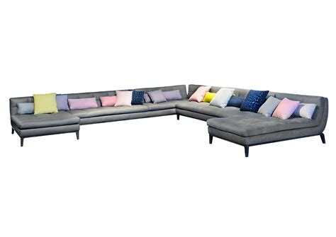 corner upholstered sofa abstract  roche bobois design
