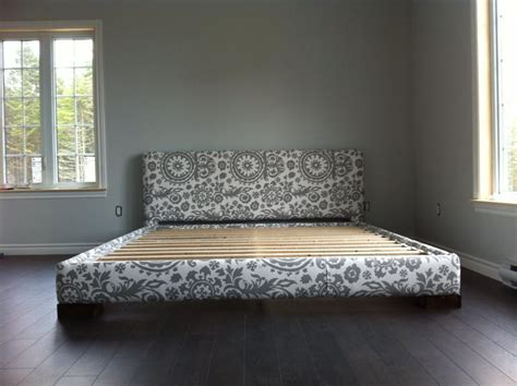 ana white upholstered bed frame king size diy projects