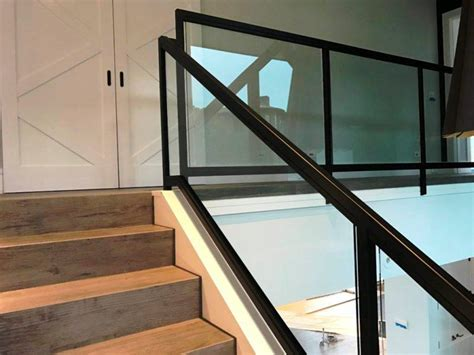 glass stair banisters  railings biaf media home