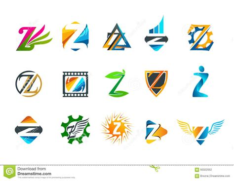 Letter Z Symbol Concept Logo Design Stock Vector