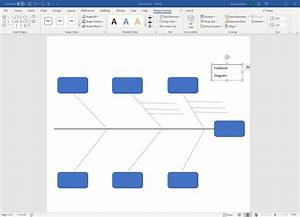 How To Make A Fishbone Diagram In Word