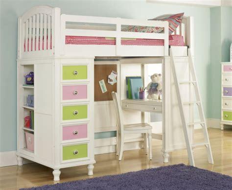 lit a etage avec bureau chambre fille mauve et vert lit mezzanine avec