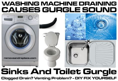 Washing Machine Draining Causes Sinks And Toilet To Gurgle