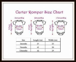 Carters Baby Size Chart Standard Infant Romper Sizing Chart With Images Baby
