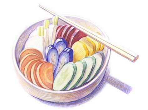 cuisine dwg foods drawings colored pencil drawings of foods 17