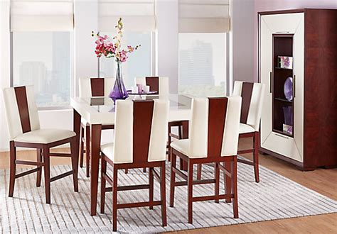 sofia vergara dining room furniture sofia vergara savona ivory 5 pc counter height dining room