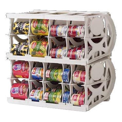 can storage rack food rotation system canned soup can storage rack