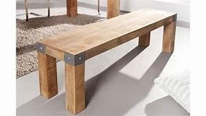 Banc Bois Massif : banc en bois massif 160 cm collection espen tr s robuste ~ Teatrodelosmanantiales.com Idées de Décoration