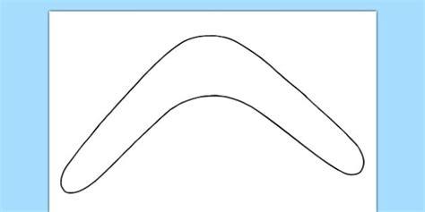 boomerang template boomerang outline activity sheet australia boomerang