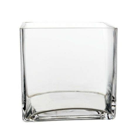 Square Vases by Clear Glass Cube Square Vase Wedding Centerpiece Home