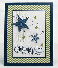 gina  stamp birthday paper crafts cards