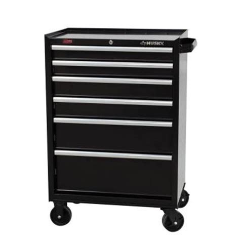 husky tool storage cabinets husky 27 in 6 drawer rolling tool cabinet black h6tr3