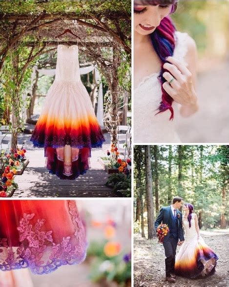 Young Bride Dip Dyes Her Wedding Gown To Add An Elegant