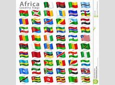 Vector African National Flag Set Stock Vector