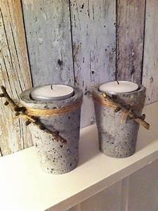 Basteln Mit Plastikbecher : beton concrete candles decoration pinterest ~ Orissabook.com Haus und Dekorationen