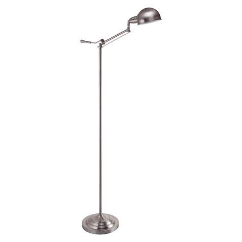 Ore International Floor L Silver by Ore International 64 Inch Modern Silver Task Floor L