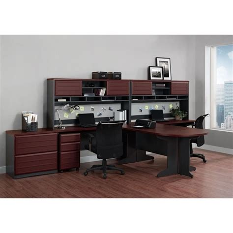 altra pursuit u shaped desk altra furniture pursuit u shaped office set in cherry and