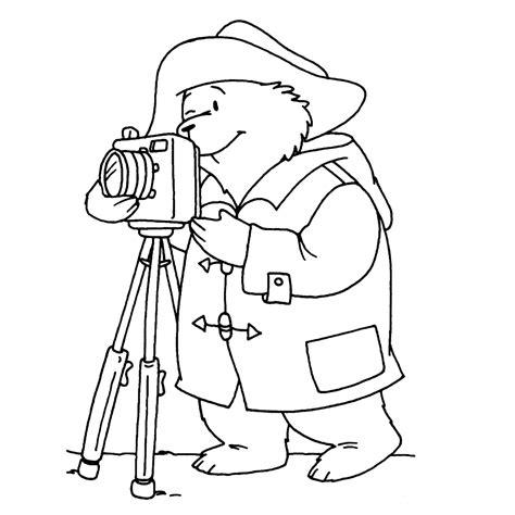 Fotograaf Kleurplaat by Leuk Voor Beertje Paddington Als Fotograaf