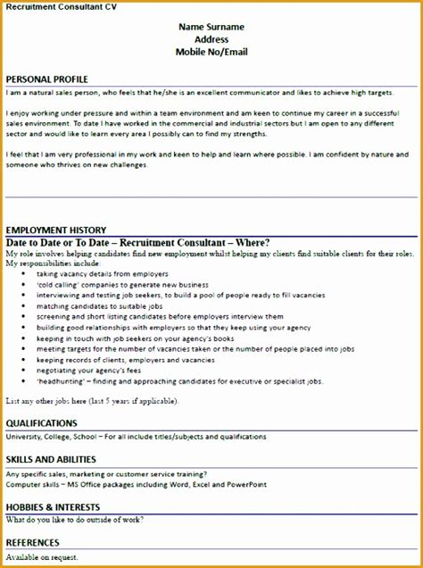 recruitment consultant cv 7 recruitment consultant resume sample free samples