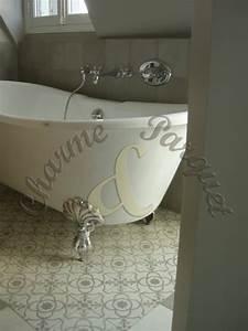 Carreaux Adhesif Salle De Bain : carreaux de ciment charme parquet paris ~ Melissatoandfro.com Idées de Décoration
