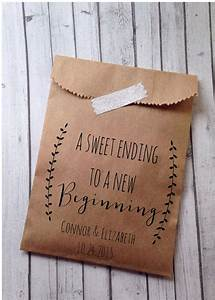 Wedding favor bags laurel rustic candy buffet sacks for Personalized wedding favors cheap