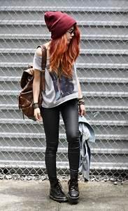 hipster chica botas gorro jefadelaciudaddelosraritos •