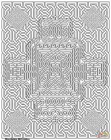 Geometric Mosaic Coloring Pages For Adults Geometric
