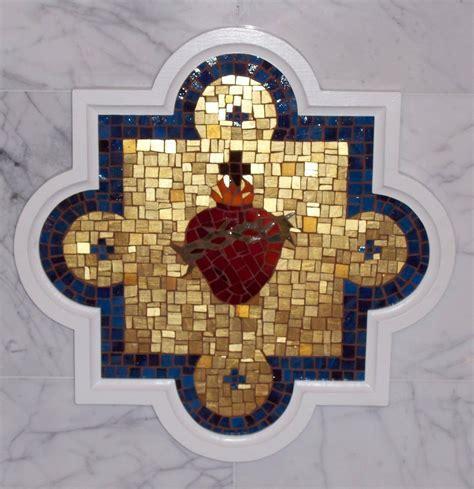 Handmade Sacred Heart Mosaic by Red Fern Art Studio