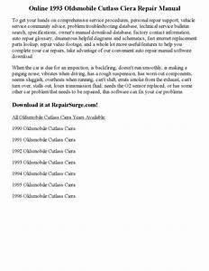 1993 Oldsmobile Cutlass Ciera Repair Manual Online By Wayne Darton