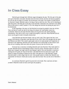 Macbeth Downfall Essay 5 Paragraph Essay In Class Essay Macbeth Goes Through