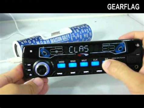 install aux in car gearflag in dash sd usb mp3 iphone bluetooth car stereo