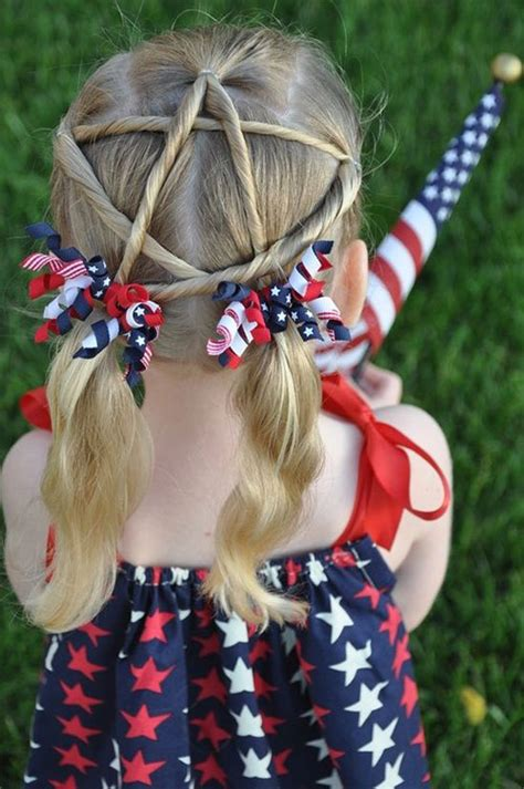 amazing fourth  july hairstyles  kids girls
