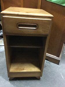 Maple Nightstands With Drawers by 1950 Unique Solid Maple Deco Nightstand With Drawer Ebay