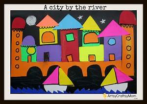 A city by the river- Collage - Artsy Craftsy Mom