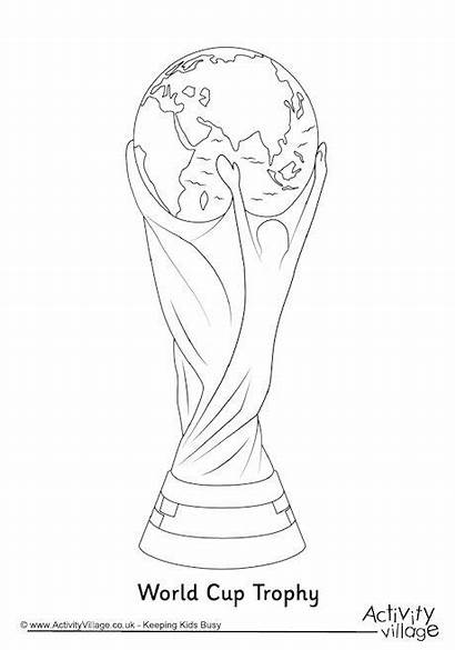 Trophy Cup Colouring Coloring Pages Soccer Football
